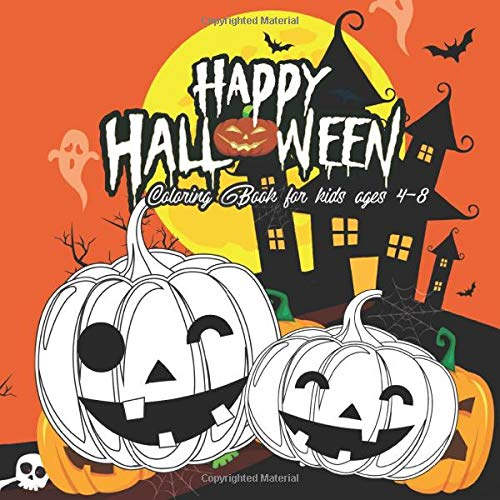 Halloween Coloring Books for kids ages 4-8: lol coloring books for kids ages 4-8 pumpkins design (ha
