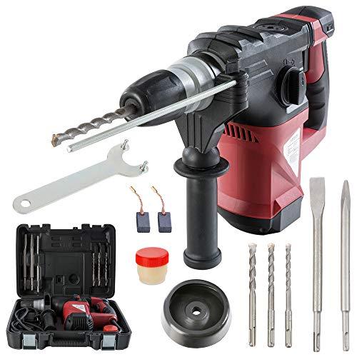 Arebos® Bohrhammer Schlagbohrer 3-in-1 1500 W (Zusatzhandgriff, 3x SDS Bohrer, 2x Meißel, Koffer)