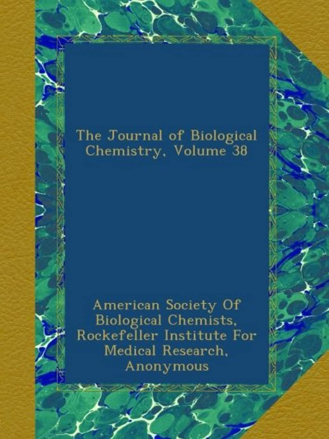 人物敬意を表して家事The Journal of Biological Chemistry, Volume 38