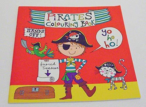 Libro de dibujos para colorear de piratas.