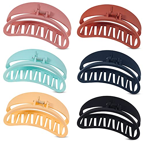 Keeygo Hair Clips for Women Thick Hair, 4 Inch Strong Hold Hair Claw Clips for Thick Hair, 6 PCS Large Hair Clips for Women Girls