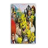 Shrek Jigsaw Puzzle para adultos, 1000 piezas, decoración artística y creativa