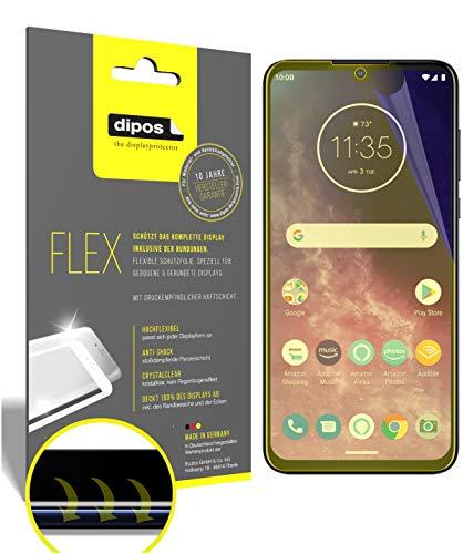 dipos I 2X Schutzfolie 100prozent passend für Motorola One Zoom Folie I 3D Full Cover Bildschirmschutzfolie