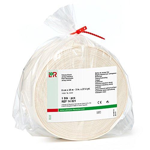 Lohmann&Rauscher-66971 tg Cotton Stockinette, 100% Cotton Tubular Bandage for Protection Under Casts, 8 cm x 25 m Roll