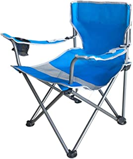 Backrest Chair Home Lazy Chair Lounge Chair Folding Chair Dining Chair Portable Outdoor Chair Fishing Chair (Color: A) (Co...