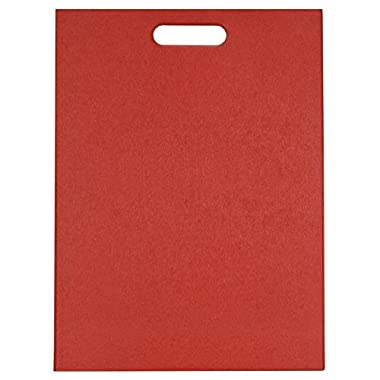 EcoSmart PolyFlax Cutting Board, Red, 12  by 16 , Recycled Plastic and Flax Husk, Made in the USA by Architec