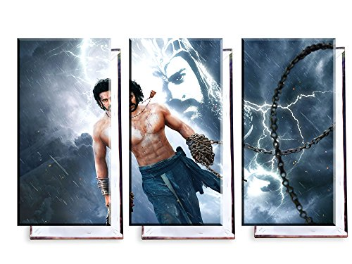 Unified Distribution Prabhas Bahubali 2 - Die Schlussfolgerung - Dreiteiler (120x80 cm) - Bilder & Kunstdrucke fertig auf Leinwand aufgespannt und in erstklassiger Druckqualität