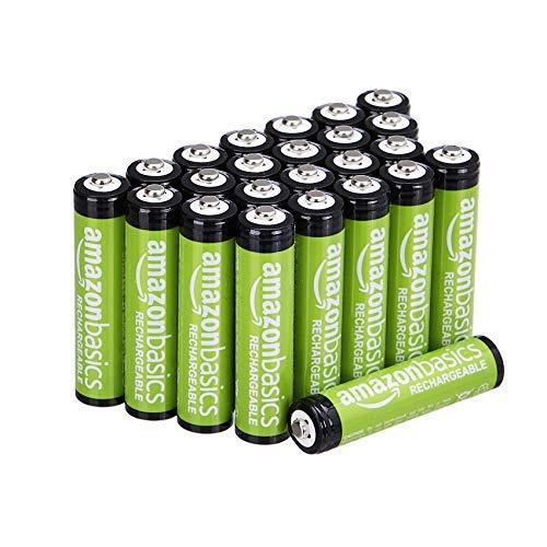 AmazonBasics AAA-Batterien, 800 mAh, wiederaufladbar, 24 Stück