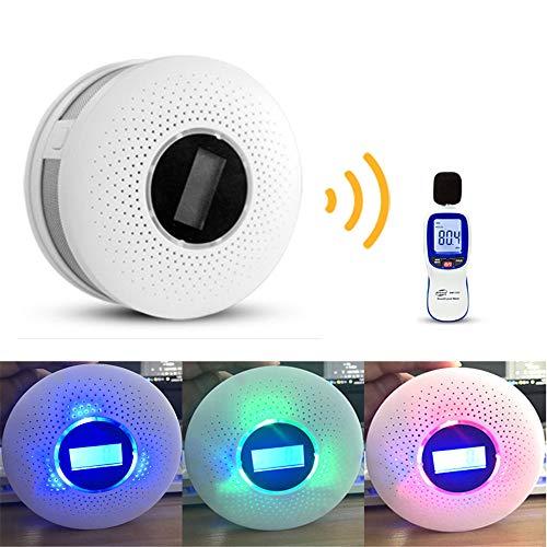 2 en 1 LED numérique Gas Co Carbone Alarme fumée Capteur Détecteur de monoxyde de Voix Warn Protection du capteur de sécurité Accueil Haute sensibilité