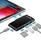 Actualización De La Estación De Acoplamiento Surface Pro 7,con HDMI 4K,2USB3.0,Puerto USB C,Lector De Tarjetas SD/TF,para Accesorios De Microsoft Surface Pro 7,Estación De Acoplamiento MS Surface Pro