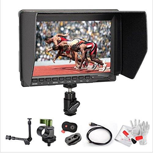 Gowe 17,8 cm (7 Zoll) HD IPS 1280 x 800 Field 4K Kamera Monitor HDMI + Schnellwechselplatte + Magic Arm für Panasonic GH4 Sony A7S FS7