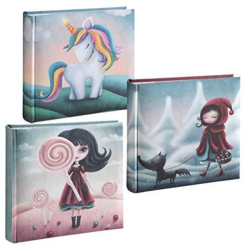 Mascagni - Álbum de fotos «Fairy Tales» con cubierta de tela impresa con temática de cuento de hadas, 200 fotos de 13 x 18 cm con memo