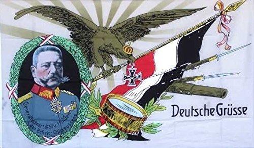U24 Flagge Fahne Hindenburg Deutsche Grüße Deutsches Reich 90 x 150 cm