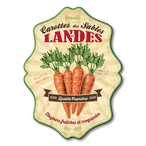 Plaque Alimentaire Décorative Carottes des Sables des Landes 53 x 40 cm