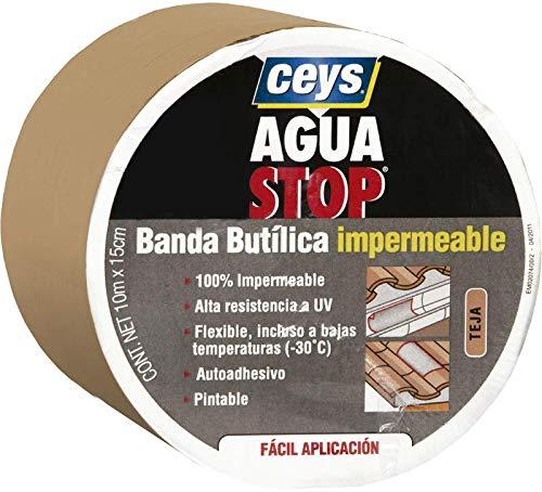 AGUA STOP BANDA BUTILICA IMPERMEABLE CEYS (30 CM X 10 M, TEJA)