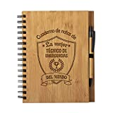 Cuaderno de Notas la Mejor tecnico de emergencias sanitarias del Mundo - Libreta de Madera Natural con Boligrafo Regalo Tamaño A5