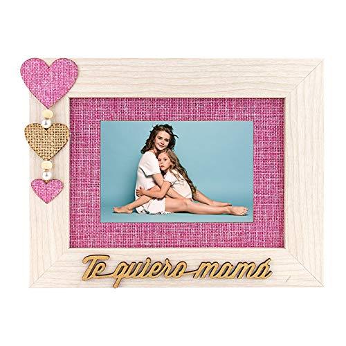 TE QUIERO MAMA marco de madera DEMARK para 1 foto 10x15 (o...