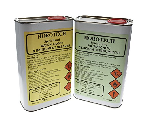 Harts HOROTECH Spirit Based WATCH, CLOCK and INSTRUMENT CLEANING AND RINSE FLUID1lt (RINSE & CLEANER)