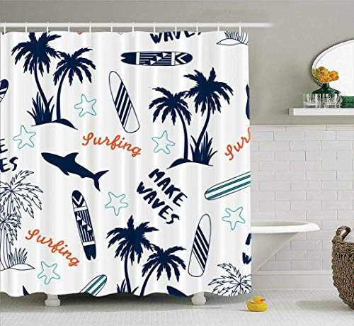 silichee Fabric Shower Curtain,Washable Shower Curtain...