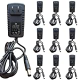 NeuPo 48 Volt Power Supply (10 Pack) | Replacement Power Adapter Compatible with VOIP Polycom IP Phones VVX 201, 300, 301, 310, 311, 400, 401, 410, 411, 1500 2200-46170-001, Sound Point IP 560, 670
