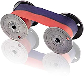 Ribbon for All Lathem 2000, 2100, 3000, 4000, 8000 Series Time Clocks, Blue/Red Ink
