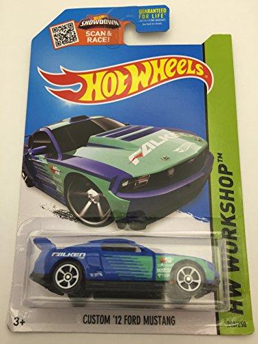 Hot Wheels, 2015 HW Workshop, Custom \'12 Ford Mustang [Blue, Falken Tires] Die-Cast Vehicle #240/250 by Hot Wheels