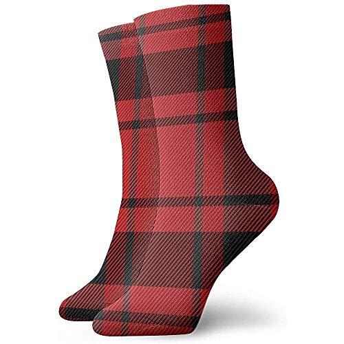 Be-ryl Calcetines de Tobillo para Correr para Hombres y Mujeres - Calcetines Deportivos Deportivos con cojín Macdonald Tartan Scottish Cage