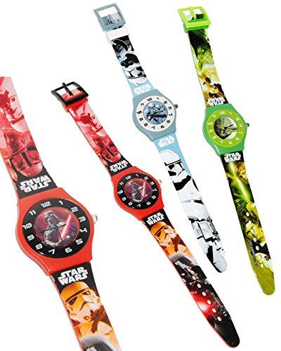 alles-meine.de GmbH 1 Stück _ Armbanduhr -  Star Wars  - Analog - passend für Kinder & Erwachsene - Kinderuhr / Lernuhr - Kunststoff Armband - für Jungen & Mädchen - Analoguhr ..