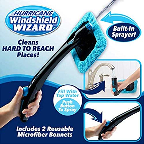 Hurricane Windshield Wizard Car Window Cleaner Kit - Windscreen Glass Reusable