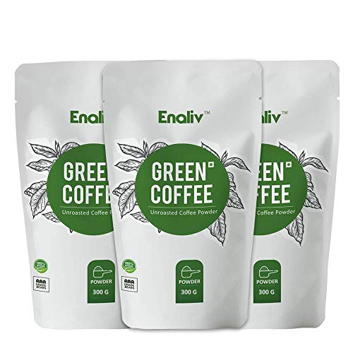 Enaliv Organic AAA Grade Green Coffee Powder For Strengthening Immunity & Weight Loss – 300 Grams (Pack of 3)