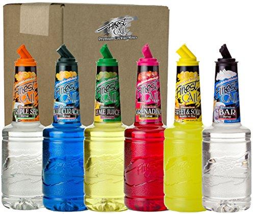 Finest Call Premium Bar Essentials Drink Mixes Variety, 1 Liter Bottles (33.8 Fl Oz), Pack of 6 Flavors