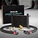 15 ROW AN10 Thermostat Adaptor Engine Transmission Oil Cooler Kit + Oil Filter Adapter Hose Kit