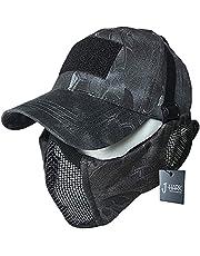 J-HARK サバゲー マスク フェイスガード タクティカル キャップ セット 耳保護付き 曇らない メッシュ フェイスマスク サバイバルゲーム 装備