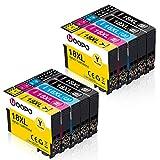 Uoopo 18XL Compatible pour Cartouche d'encre Epson 18 XL avec Epson Expression Home XP-202 XP-205 XP-215 XP-225 XP-305 XP-315 XP-322 XP-325 XP-405 XP-415 XP-425