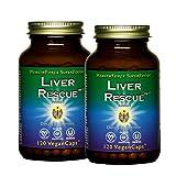 HealthForce SuperFoods Liver Rescue - 120 VeganCaps, Pack of 2 - All Natural Liver Regenerator Supplement with Milk Thistle & Dandelion Root - Organic, Gluten Free - 240 Total Servings