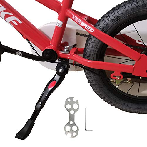 Kickstand for Kids Bike, Bicycle Kickstands Center Mount for 18 20 22 Inch Bicycles Adjustable Aluminum Alloy Kickstands for 18-22inch Mountain Bike/Road Bicycle/Adult Kid Bike/Sports Bike