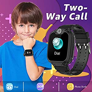 Children Smart Watches- Smart Watch Phone for Boy Girl Music Kids Watch Funny Game HD Touch Screen Sports Kid Smartwatches with Call Camera Recorder Alarm Clock Music Player, Suitable for Aged 2-12