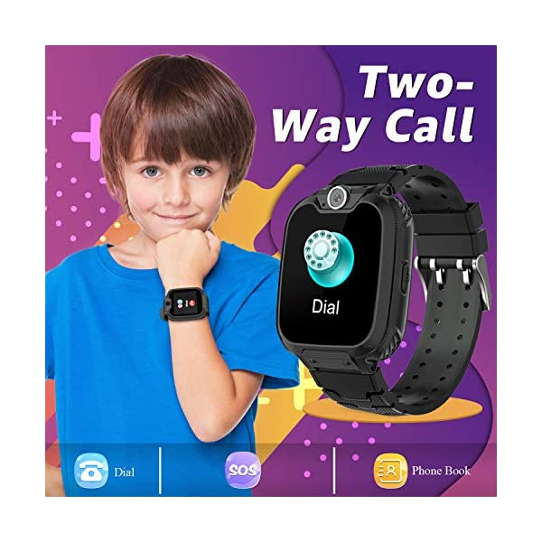 Children Smart Watches- Smart Watch Phone for Boy Girl Music Kids Watch Funny Game HD Touch Screen Sports Kid Smartwatches with Call Camera Recorder Alarm Clock Music Player, Suitable for Aged 2-12 4