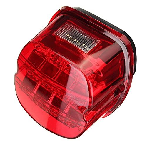 Lámpara de la Placa de la Placa de la lámpara de la lámpara de la lámpara de Freno Trasero de la Motocicleta para Davidson Touring Sportster Road King Luces de Freno