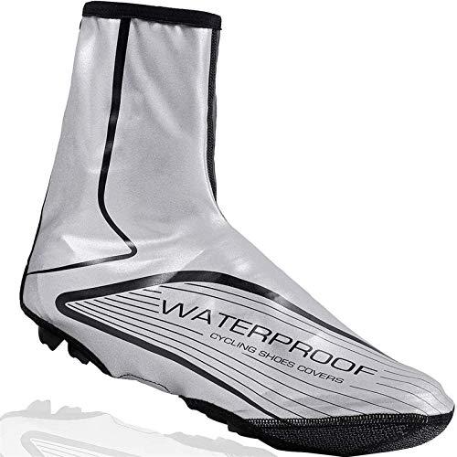 Cubrezapatillas De Ciclismo Cubiertas calientes de zapatos a prueba de viento e impermeables,botas de lluvia y nieve cubiertas protectoras para pie,adecuados para bicicletas de carretera de montaña