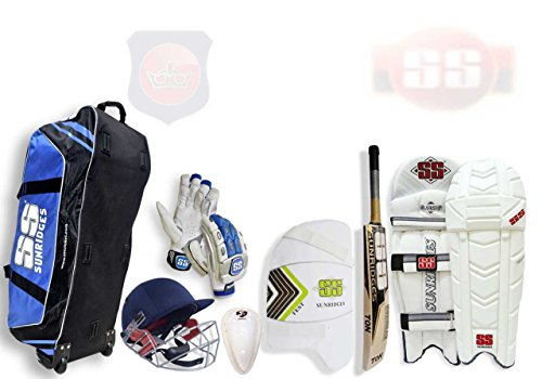 SS Paquete Completo Adulto Kit de Críquet con Bate de Sauce Inglés para Jugadores Mayores