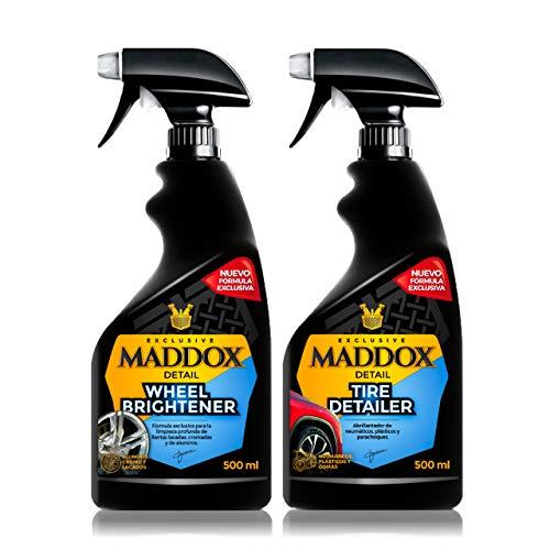 Maddox Detail - Wheel Care Kit - Limpiador de Llantas, y abrillantador de neumáticos y Gomas de Exterior.