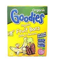 Organix Date & Banana Fruit Bars 5 X 15 g (order 7 for trade outer) / ORGANIX日付WWWWバナナフルーツバー5× 15グラム(商品アウター用7順)