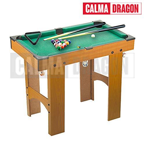 Calma Dragon Mini Tavolo da Biliardo, Gioco da Tavolo da Tavolo con Palline, Taco, Gesso per Bambini, Indoor e Outdoor.