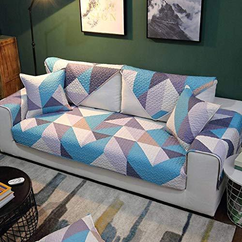 Jonist Funda de sofá de algodón, Pase de Temporada Simple, Antideslizante, para Sala de Estar, cojín para Muebles, Shield-E-110110cm