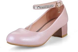 BalaMasa Womens APL12427 Pu Block Heels