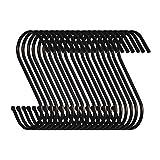 Swatowot Pack de 20 ganchos en forma de S para colgar ropa de cocina, baño,...