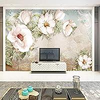 写真壁画シンプルな油絵花の壁カバーリビングルームテレビの背景壁の壁紙の装飾ホーム3Dフレスコ画-300x210cm