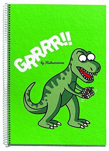 Kukuxumusu 2787 - Cuaderno escolar tamaño 4º cuadricula 80 hojas,