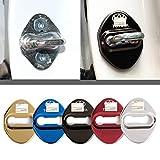 4枚セット 5色選択可 トヨタ TOYOTA ストライカー カバー ドアロック カバー メッキ 高品質 鏡面ステンレススト トヨタ全車種対応 トヨタ社外品 (TOYOTA-Silver)